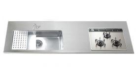 ステンレスワークトップGQJS15L D650 W1050~3850mm