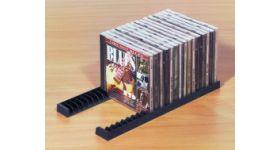 CD/DVDラック Black CD23枚用