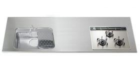 ステンレスワークトップGQGXK D700~850 W1050~3850mm