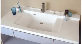 YS-DL洗面器一体カウンターD=600mmツインデッキタイプ