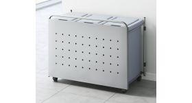 金属パネル付ゴミ箱ワゴン EK-J55
