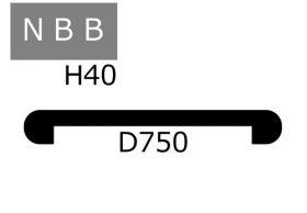 メラミンカウンターNBB:D=750:アイランド・ペニンシュラ用
