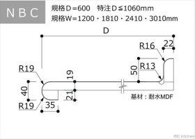 NBC:D=600:Ⅰ型・汎用・バックガード付