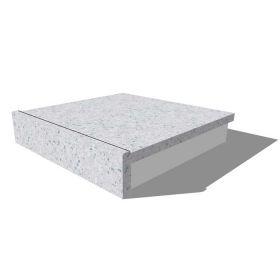 人工大理石:前垂(角型)水返し加工オプション