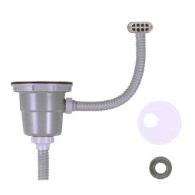 浅型(短尺)排水部品S-MOA(オーバーフロー付)(ジャバラ)